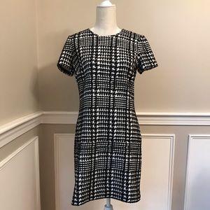 Calvin Klein Short Sleeve Houndstooth Dress